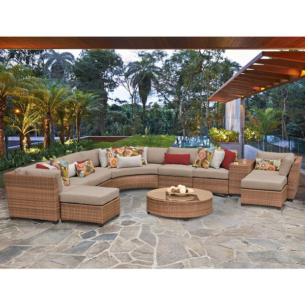 Laguna 11 Piece Outdoor Wicker Patio Furniture Set 11c