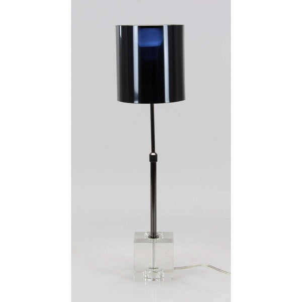 Shop Benzara Black Iron Crystal Table Lamp Free Shipping Today
