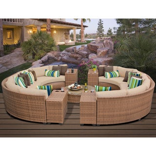 Laguna 11 Piece Outdoor Wicker Patio Furniture Set 11b