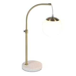 Benzara Simplistically Designed Iron Globe Table Lamp