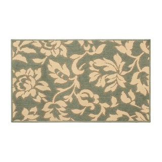 Laura Ashley Bennet Ash Green Indoor/Outdoor Rug - 8' x 11'