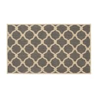 Laura Ashley Arietta Gray Indoor/Outdoor Accent Rug -
