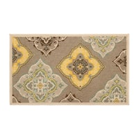 Laura Ashley Allie Taupe Indoor/Outdoor Accent Rug - 8' x 11'
