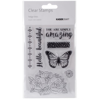 "Indigo Skies Clear Stamps 6""X4""-"