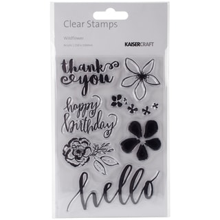 """Wildflower Clear Stamps 6""""X4""""-"""