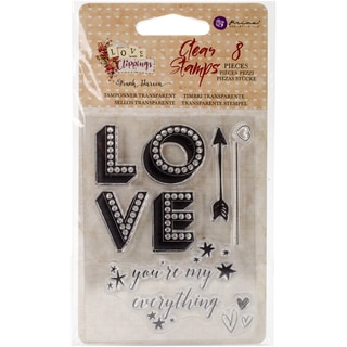 """Love Clippings Clear Stamps 3""""X4""""-"""