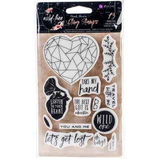 """Wild & Free Cling Rubber Stamps 4""""X6""""-"""
