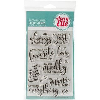 """Avery Elle Clear Stamp Set 4""""X6""""-Favorite Person"""