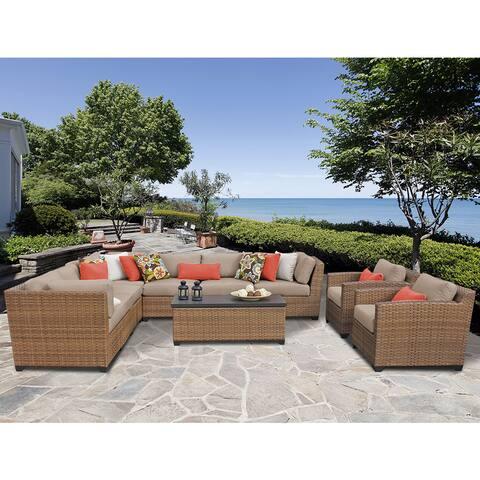 Laguna 10 Piece Outdoor Wicker Patio Furniture Set 10a
