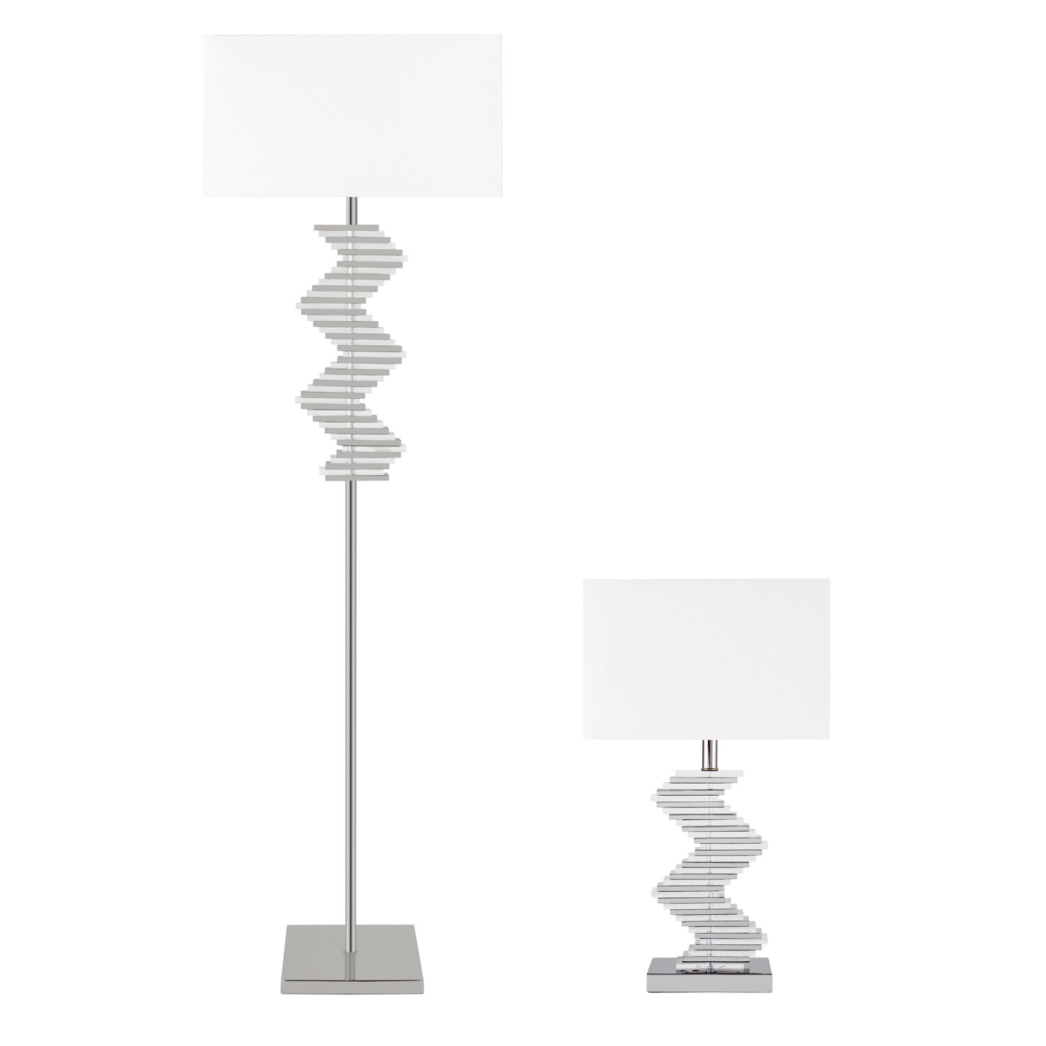 Finesse Crystal Two-Tone Paved Floor Lamp with 3 Brightne...