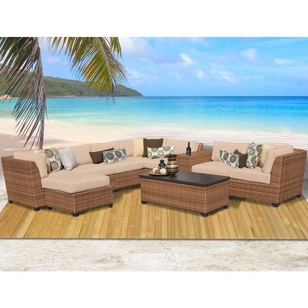 Laguna 10 Piece Outdoor Wicker Patio Furniture Set 10b