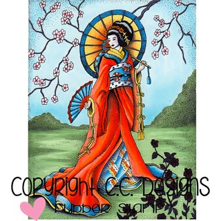 "Doveart Cling Stamp 3.5""X4.5""-Geisha"