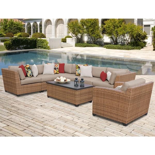 Laguna 8 Piece Outdoor Wicker Patio Furniture Set 08d