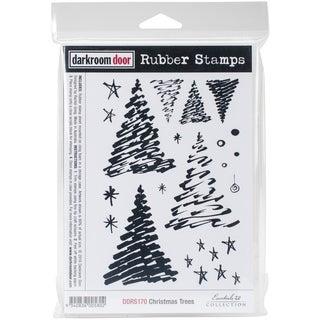 "Darkroom Door Cling Stamps 7""X5""-Christmas Tree"