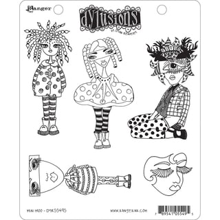 """Dyan Reaveley's Dylusions Cling Stamp Collections 8.5""""X7""""-Mini Moo"""