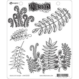 "Dyan Reaveley's Dylusions Cling Stamp Collections 8.5""X7""-Oodles Of Foliage"