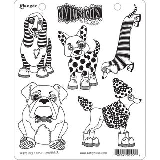 "Dyan Reaveley's Dylusions Cling Stamp Collections 8.5""X7""-Puppy Dog Tales"