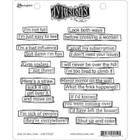 "Dyan Reaveley's Dylusions Cling Stamp Collections 8.5""X7""-Shut Up And Color"