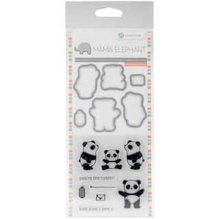 "Mama Elephant Stamp & Die Set 4""X8""-Panda"