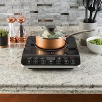 Multi-Function 1800W Portable Induction Cooker Cooktop Burner - Black By Classic Cuisine