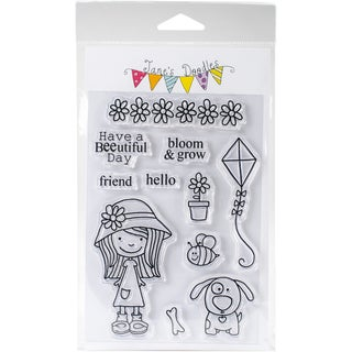"Jane's Doodles Clear Stamps 4""X6""-Little Miss Mia"
