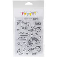 """Jane's Doodles Clear Stamps 4""""X6""""-Unicorn"""
