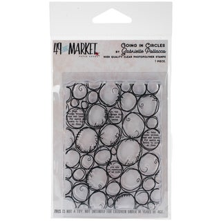 "49 & Market Clear Stamps 3""X4""-Going In Circles"