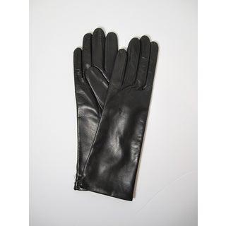 Portolano Women's 11-inch Leather and Cashmere Gloves