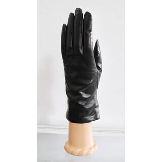 Portolano Women's 9-inch Leather and Cashmere Gloves
