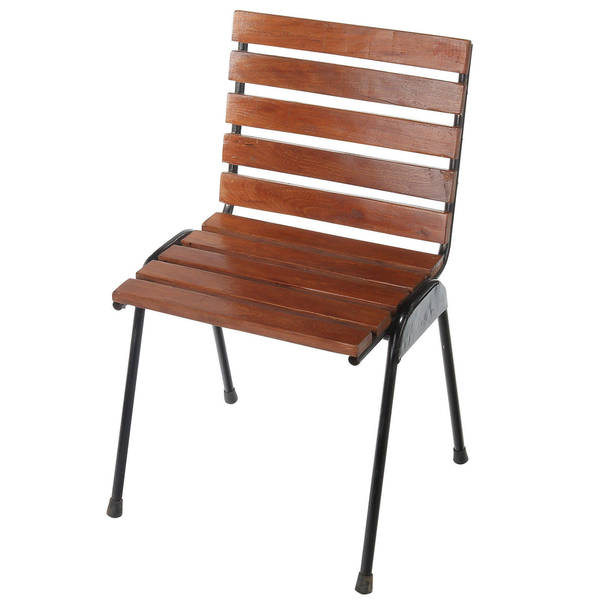 Handmade Central Park Wood Slat Dining Chair (Indonesia). Opens flyout.