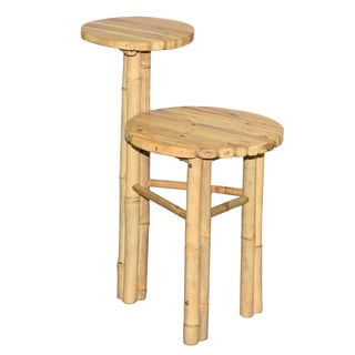 Handmade Dual Level Bamboo end table (Vietnam)