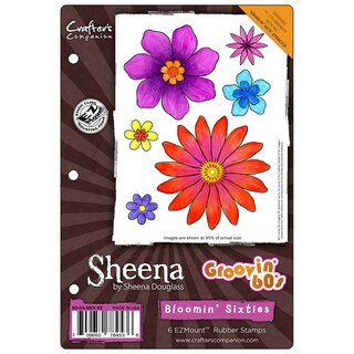 """Sheena's Groovin' 60's Ezmount Stamps 5.5""""X8.5""""-Bloomin' Sixties"""