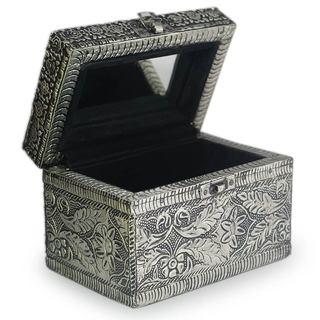 Brass Jewelry Box, 'Persian Paradise' (India)