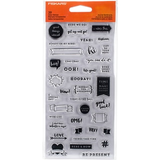 "Fiskars Clear Stamps 4""X8""-Journal Sentiments"