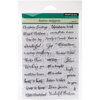 """Penny Black Clear Stamps 5""""X7""""-Festive Snippets"""