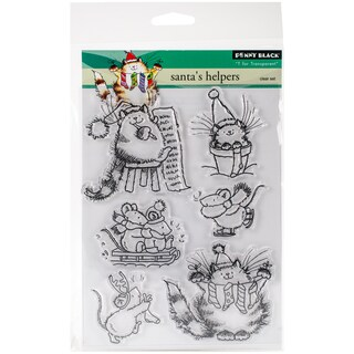 """Penny Black Clear Stamps 5""""X7""""-Santa's Helpers"""