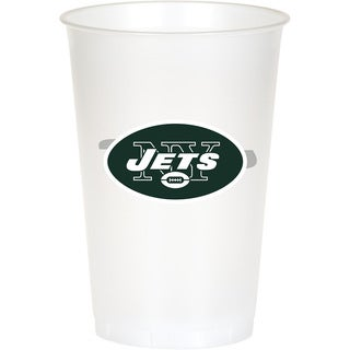 New York Jets 20 oz Plastic Cups, Case of 96