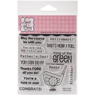 "Sweet 'n Sassy Clear Stamps 4""X4""-Hole In One"