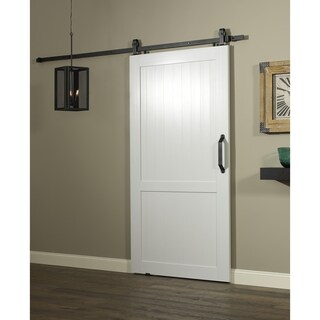 Millbrooke Barn PVC and Metal 42-inch H-Style Sliding Door (Option: White)