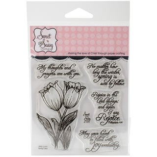 "Sweet 'n Sassy Clear Stamps 4""X4""-Spring Tulips"