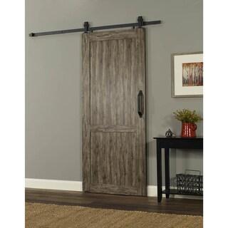 Millbrooke PVC 36-inch Barn Door (Option: Brown/Grey)