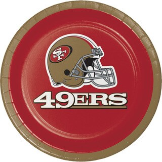 San Francisco 49ers Luncheon Plates, Case of 96