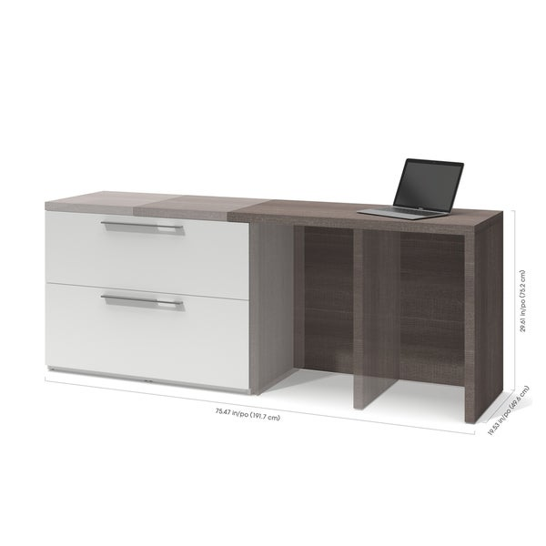 Bestar Small Space 2-Piece Sliding Computer Desk and 20-inch Storage Tower  Set - Free Shipping Today - Overstock.com - 21746550
