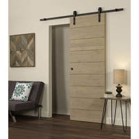Horizontal Unfinished Pine Wood Barn Door