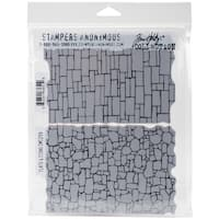 """Tim Holtz Cling Stamps 7""""X8.5""""-Slate & Stone"""