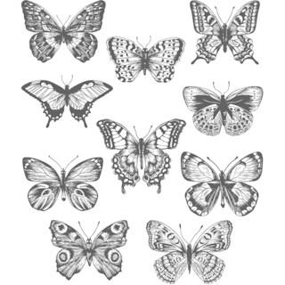 """Tim Holtz Cling Stamps 7""""X8.5""""-Flutter"""