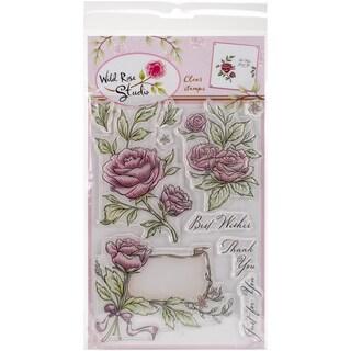"""Wild Rose Studio Ltd. Clear Stamp 6""""X8""""-Antique Roses"""