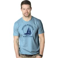 Prestige Worldwide Boats And Hoes T-Shirt Funny Classic Sailing Movie Tee Movie Tee