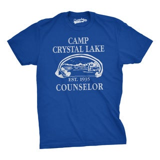 Mens Summer Lake Camp Counselor Scary Halloween Horror Movie T shirt