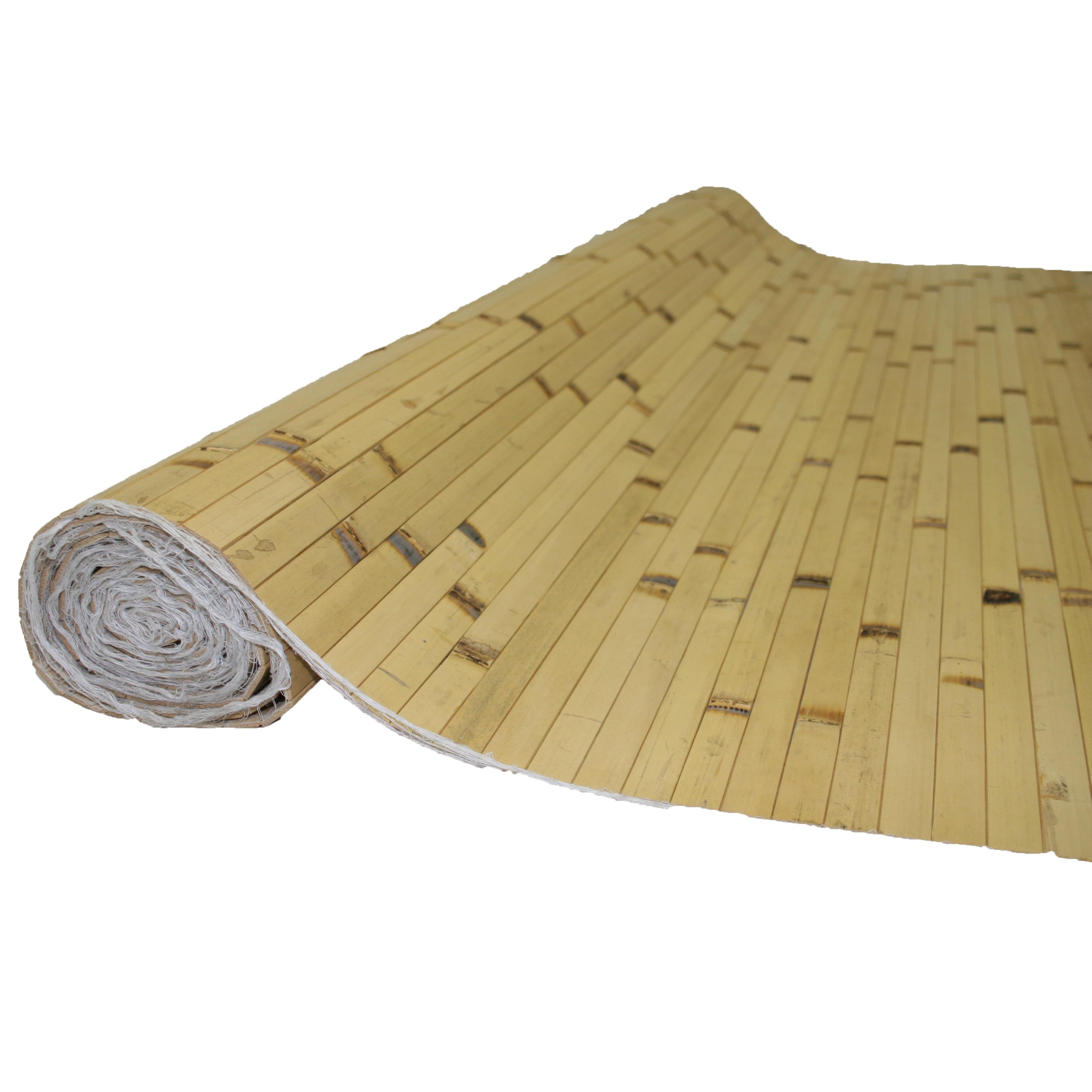 Bamboo Panels 4FT H x 8FT L Natural RAW Burnt (Natural Ra...